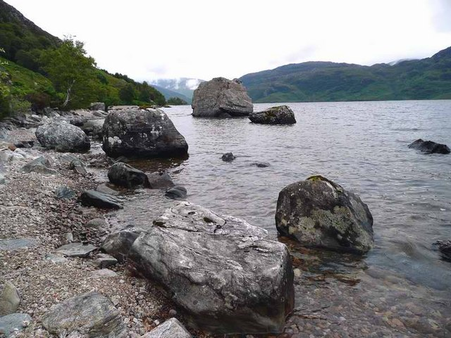 Boulders in Loch Morar