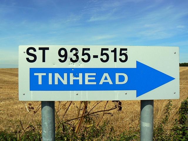 Road sign near Bratton