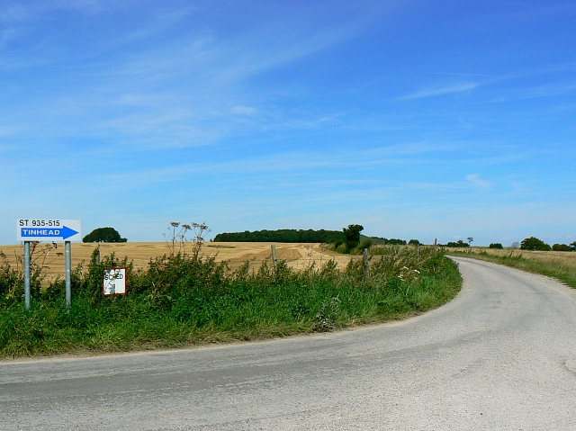 The road to Tinhead Hill Farm, near Bratton