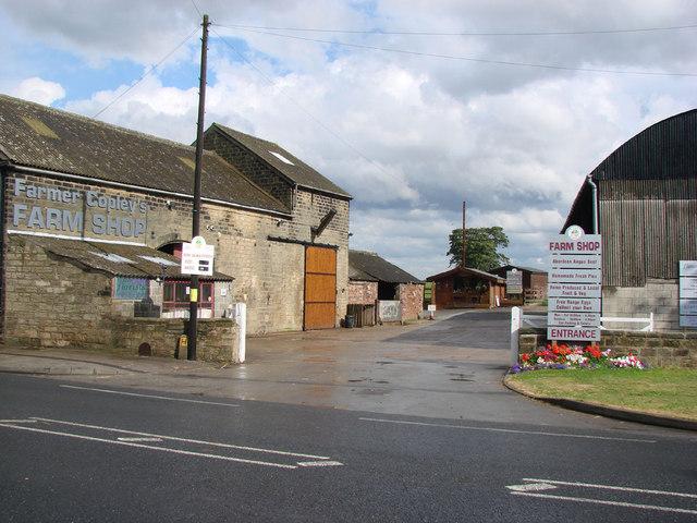 Farmer Copley's Farm Shop.