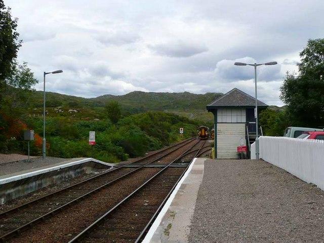 Malaig train approaching Arisaig