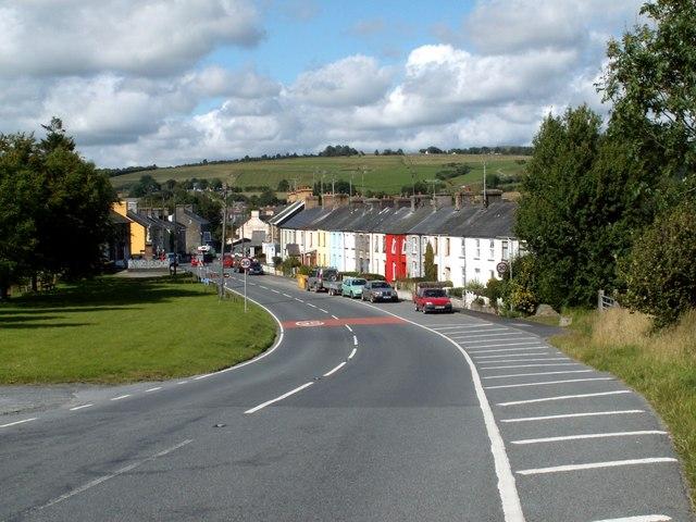 Pontrhydfendigaid Village on the B4343 Road
