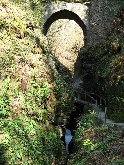 Lydford Road Bridge at Lydford Gorge