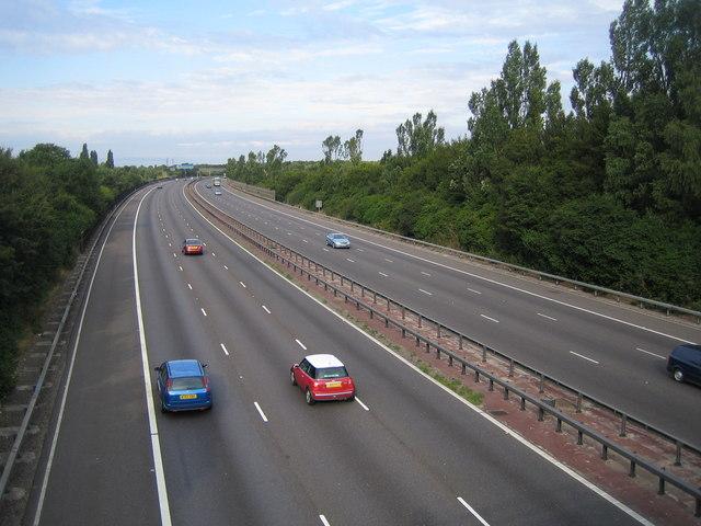 M25 Motorway near Colney Street