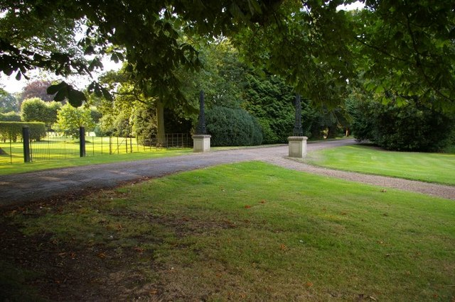 Entrance to the private bit of the Stradsett Estate