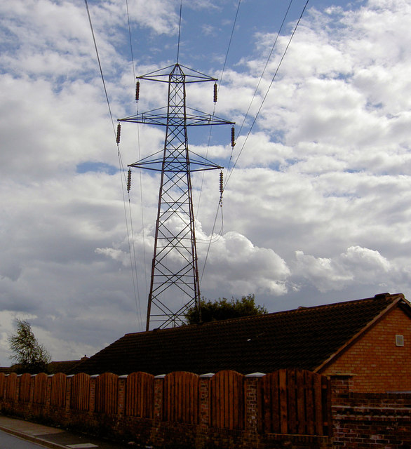 Pylon in your back garden.