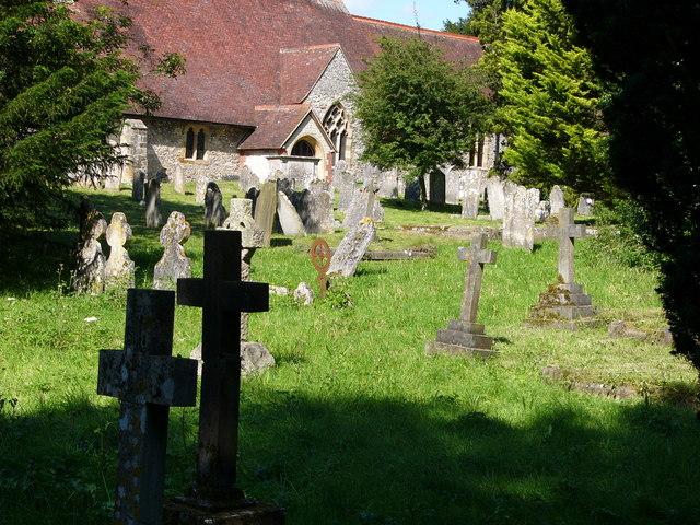 Buriton churchyard