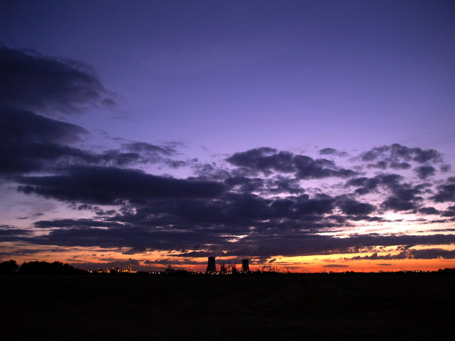 Ultrawide Sunset over Saltend