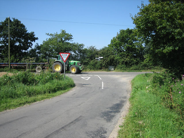 Wendling Road at Hall Green meets a larger road