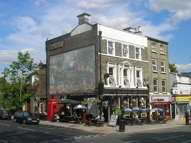 Haverstock Arms at Junction of Haverstock Hill and Upper Park Road, London NW3