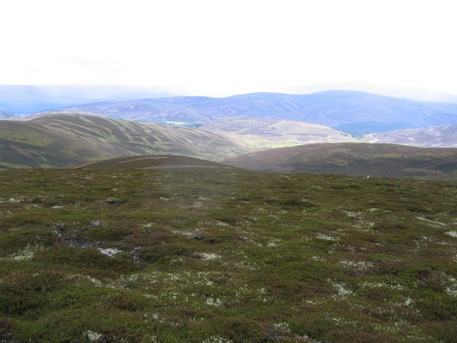 View to the south from Cairnagour Hill