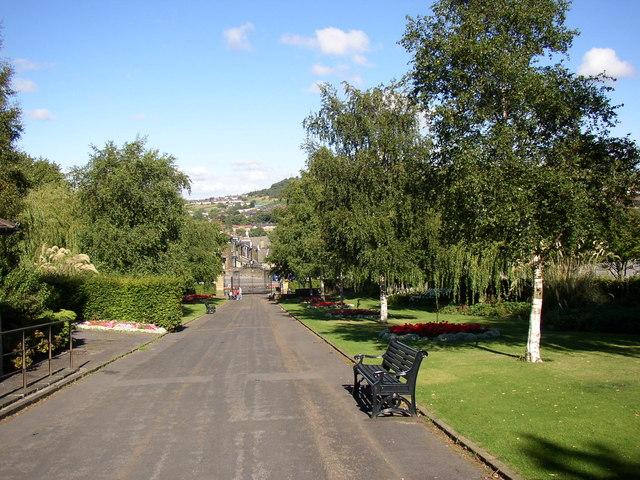 Entrance driveway, Northcliffe Park, Shipley