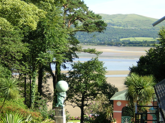 Portmeirion overlooking the estuary