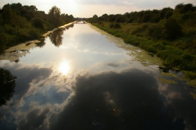 Late afternoon reflections at the Great Ouse Cutoff Channel