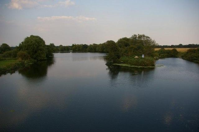 Lake opposite sugar beet factory