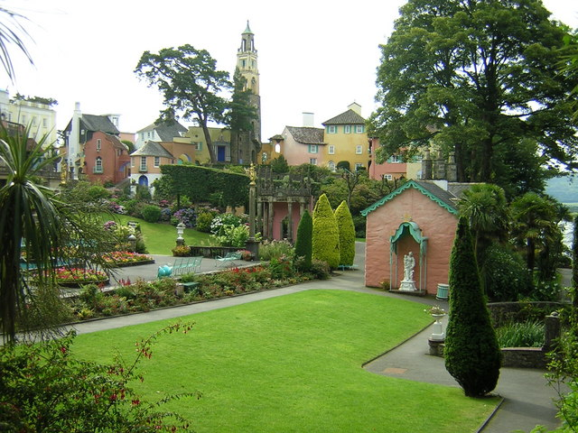 Portmeirion view over village green