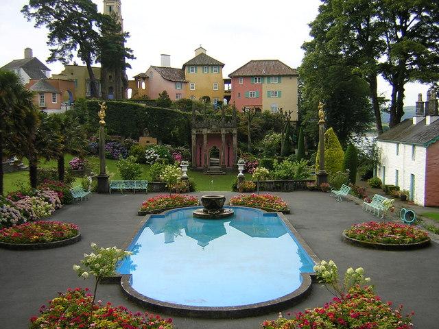 Village garden at Portmeirion