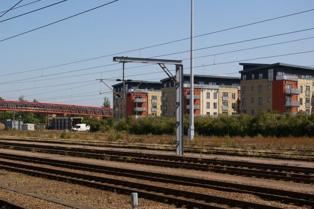 Newly-built flats at Cambridge station