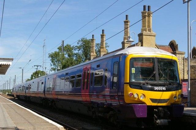 Train at Downham Market station