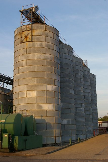 Silos at Heygates' Flour Mill