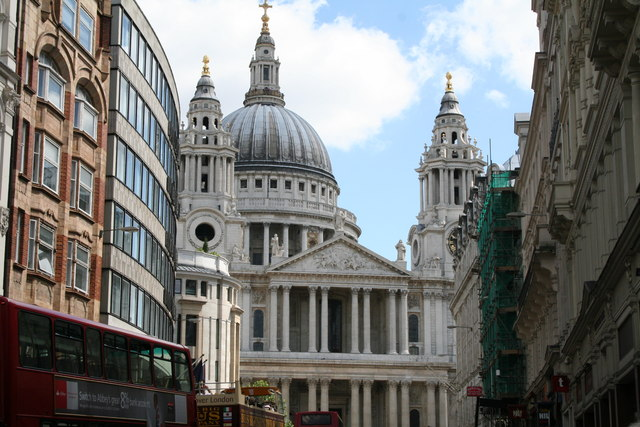 St. Paul's Cathedral, West Front, from Ludgate Hill