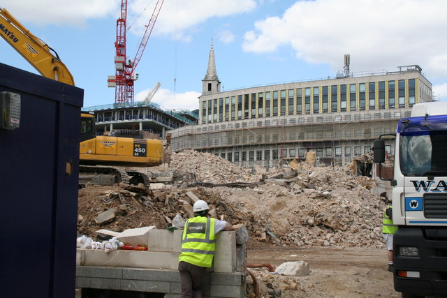 Demolition north of Watling Street in the City