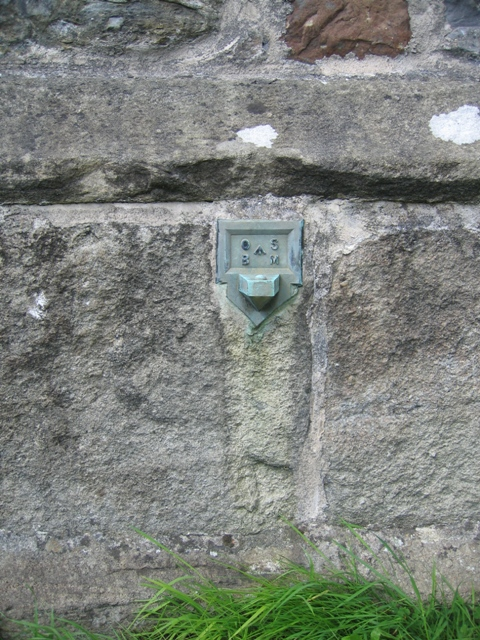 Projecting Bracket Benchmark on St Oswald's Tower