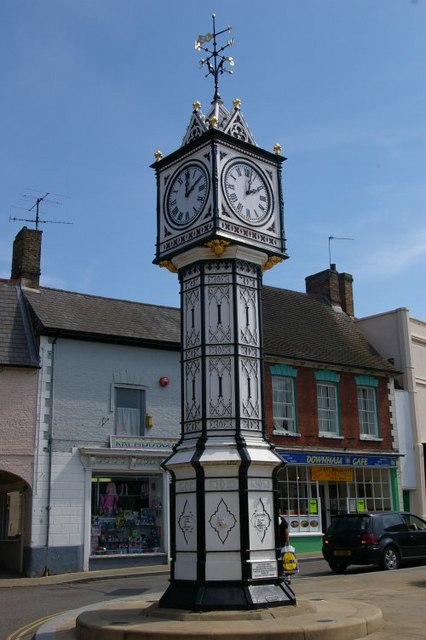 Clock in centre of town