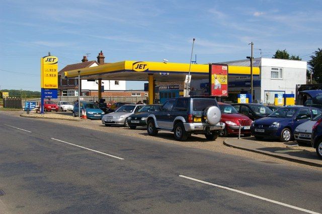 Petrol station and garage