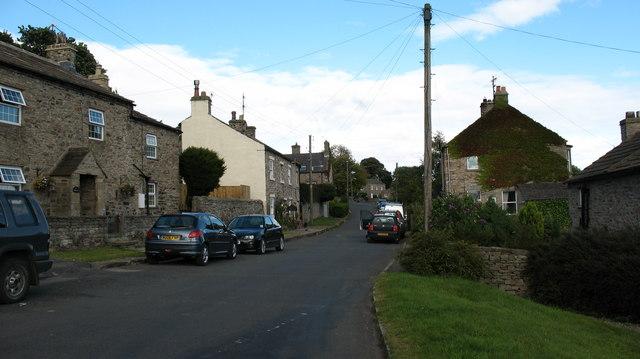 Village street, Preston under Scar