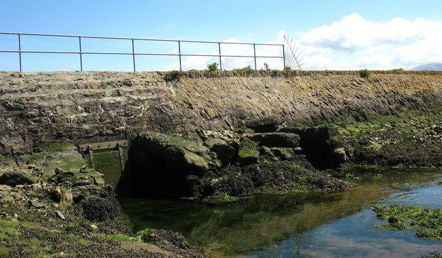 Sluice gates in the Rhuddgaer embankment