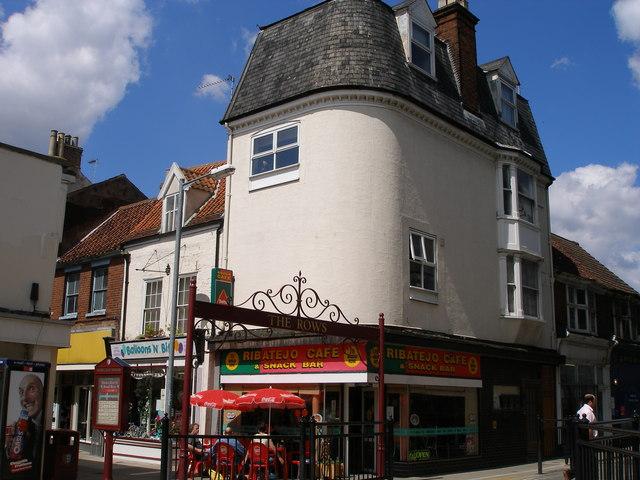 Broad Row pedestrianised narrow street