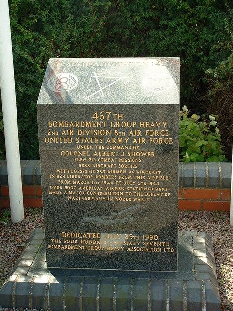 U.S.A.A.F. Rackheath Memorial Stone