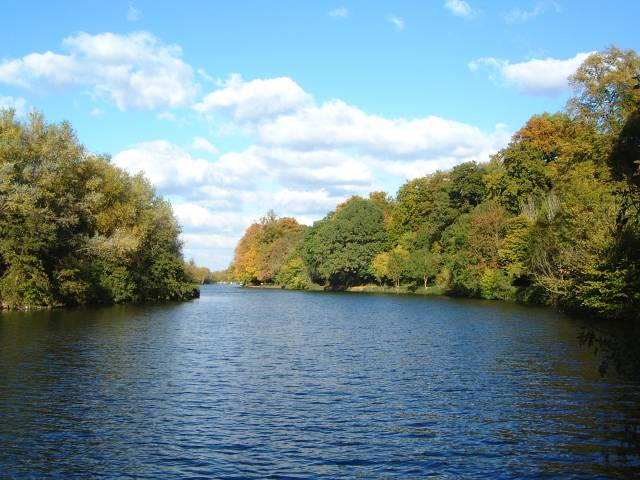 River Thames - view towards Sonning Lock