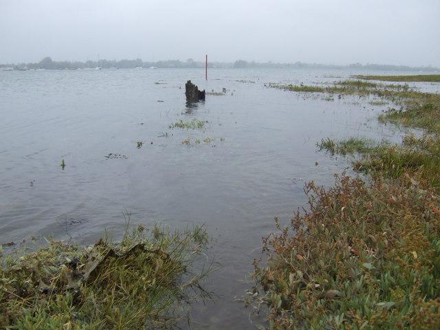 Langstone Harbour; high tide