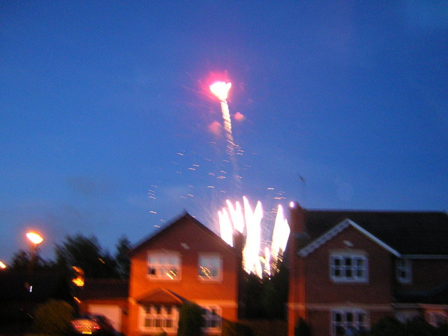 Fireworks after Northern Proms