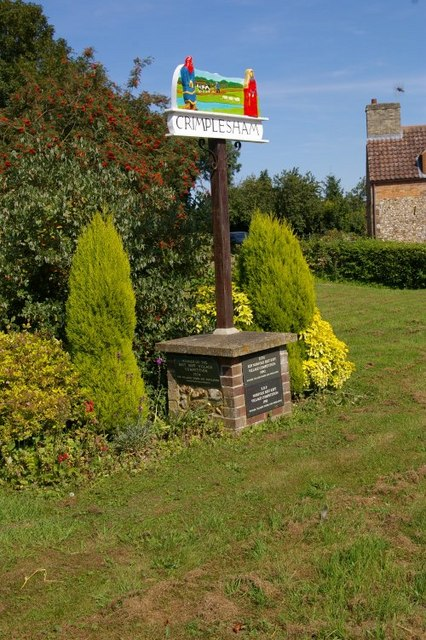 Crimplesham village sign
