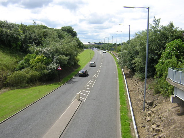 City Way cutting from Footbridge