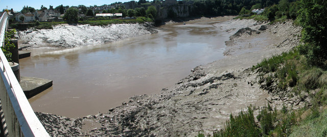 Chepstow - the tidal river Wye