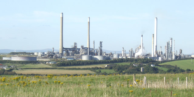Popton Oil Refinery, Rhoscrowther, Pembrokeshire