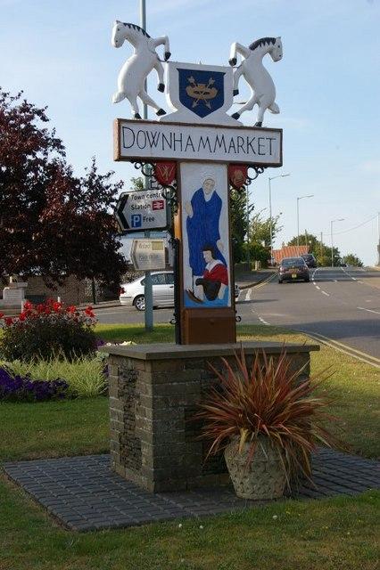 Downham Market village sign