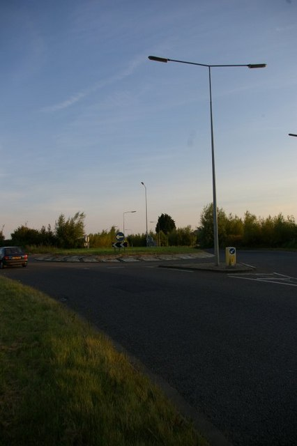 Roundabout on A1122 outskirts of Downham Market
