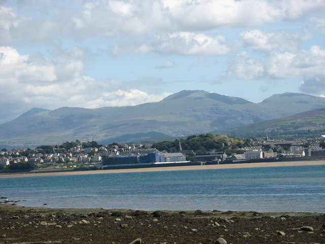 The controversial Victoria Dock scheme at Caernarfon viewed from Tal-y-foel pier