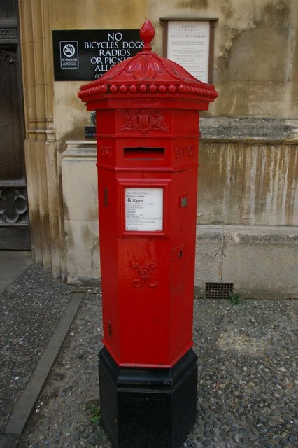 Penfold Victorian postbox outside King's College