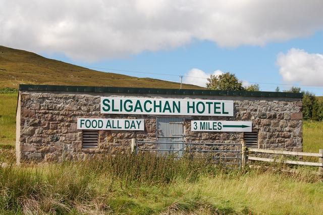 Advertisement for Sligachan Hotel