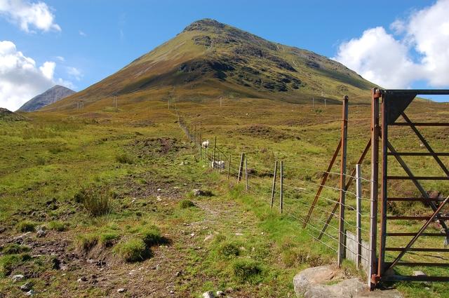 Fenceline below An Coileach