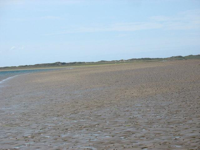 Looking across towards Tywyn Niwbwrch at low tide