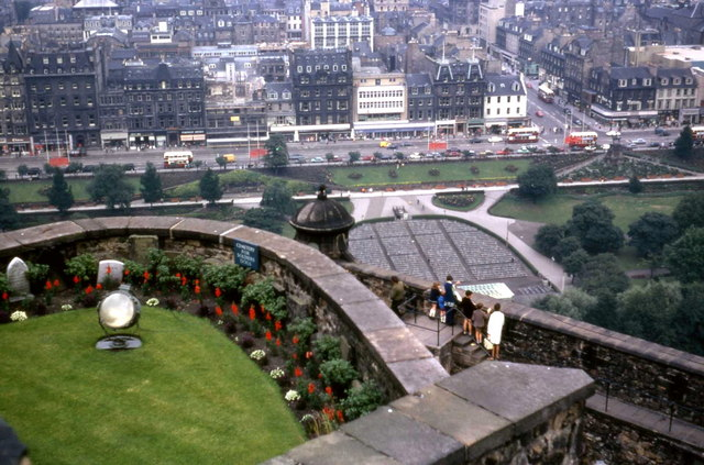 Princes Street, Edinburgh from The Castle