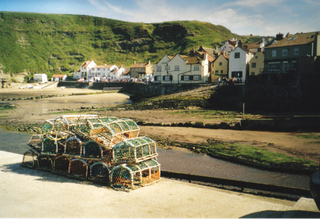 Lobster pots at Staithes.