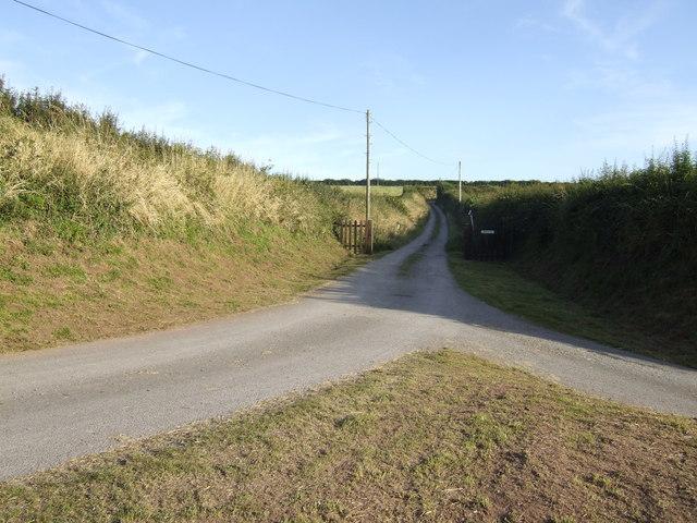 Farm road to Moreston